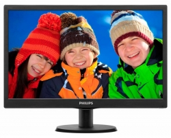 Монитор Philips 18.5  193V5LSB2 (10/62) черный TN+film LED 5ms 16:9 матовая 200cd 1366x768 D-Sub 2.15кг