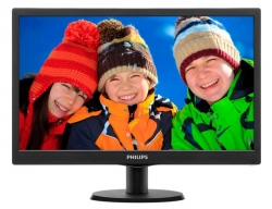 Монитор Philips 19.5  203V5LSB26 (10/62) черный TN+film LED 5ms 16:9 матовая 200cd 1600x900 D-Sub 2.33кг