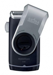 Бритва сетчатая Braun MobileShave M-90 реж.эл.:1 питан.:бат.AA черный/серебристый