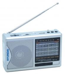 Радиоприемник портативный Hyundai H-PSR160 серебристый