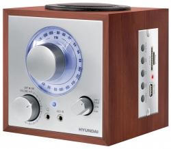 Радиоприемник настольный Hyundai H-SRS200 черный USB SD/MMC