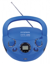 Аудиомагнитола Hyundai H-PCD220 синий 2Вт/CD/CDRW/MP3/FM(dig)/USB/SD/MMC