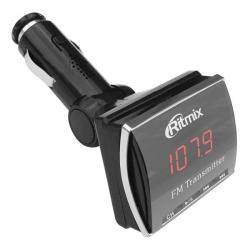 Автомобильный FM-модулятор Ritmix FMT-A750 черный SD/MMC USB PDU
