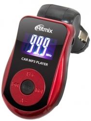 Автомобильный FM-модулятор Ritmix FMT-A720 красный SD USB PDU