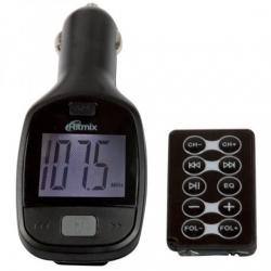 Автомобильный FM-модулятор Ritmix FMT-A705 черный SD/MicroSD USB PDU