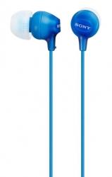 Гарнитура вкладыши Sony MDR-EX15LP 1.2м голубой проводные (в ушной раковине)