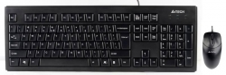 Клавиатура + мышь A4 KRS-8372 клав:черный мышь:черный PS/2+USB