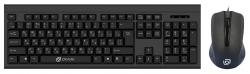 Клавиатура + мышь Oklick 600M клав:черный мышь:черный USB