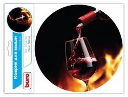 Коврик для мыши Buro BU-T60056 рисунок/вино