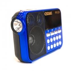 Радиоприемник портативный Сигнал РП-224 черный/синий USB microSD