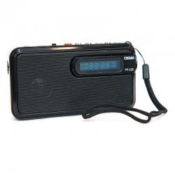 Радиоприемник портативный Сигнал РП-225 черный USB microSD