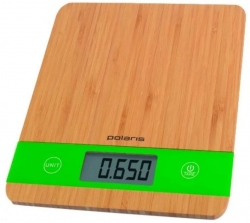Весы кухонные электронные Polaris PKS 0545D макс.вес:5кг бамбук