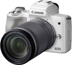 Фотоаппарат Canon EOS M50 белый 24.1Mpix 3  4K WiFi 18-150 IS STM LP-E12