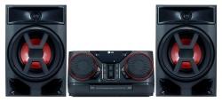 Минисистема LG CK43 черный 300Вт/CD/CDRW/FM/USB/BT