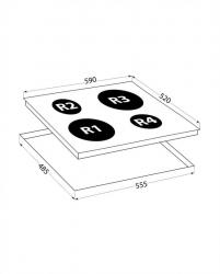 Варочная поверхность Lex EVH 640 черный
