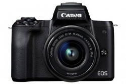 Фотоаппарат Canon EOS M50 черный 24.1Mpix 3  4K WiFi 15-45 IS STM LP-E12