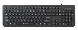 Клавиатура Oklick 400MR черный USB slim Multimedia