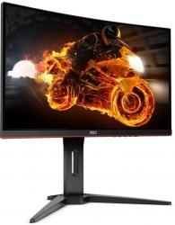 Монитор AOC Gaming C24G1 черный/красный