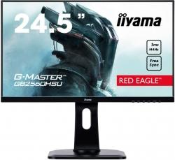 Монитор Iiyama 24.5 G-Master GB2560HSU-B1 черный TN LED 1ms 16:9 HDMI M/M матовая HAS Pivot 250cd 170гр/160гр 1920x1080 DisplayPort FHD USB 5.6кг