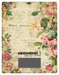 Весы кухонные электронные Redmond RS-736 рисунок/цветы