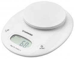 Весы кухонные электронные Starwind SSK4171 макс.вес:5кг белый