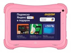 Планшет Digma Optima Kids 7 RK3126C (1.2) 4C/RAM1Gb/ROM16Gb 7  IPS 1024x600/Android 8.1/розовый/2Mpix/0.3Mpix/BT/GPS/WiFi/Touch/microSD 64Gb/minUSB/2500mAh