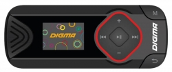 Плеер Flash Digma R3 8Gb черный/0.8 /FM/microSD/clip