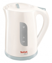 Чайник электрический Tefal KO270130 1.7л. 2400Вт белый/серый (корпус: пластик)