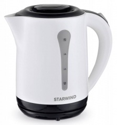 Чайник электрический Starwind SKP2212 белый/черный