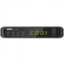 Ресивер DVB-T2 Cadena CDT-1753SB черный
