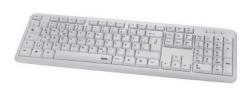 Клавиатура Hama Verano механическая белый USB slim