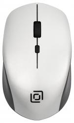 Мышь Oklick 565MW glossy черный/серебристый оптическая (1000dpi) беспроводная USB (3but)