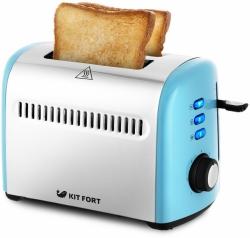 Тостер Kitfort КТ-2026-1 голубой/серебристый