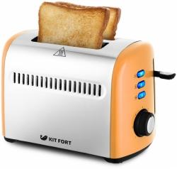 Тостер Kitfort КТ-2026-3 950Вт оранжевый/серебристый