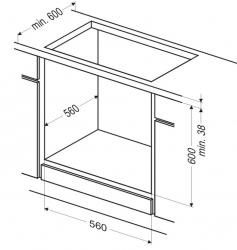 Духовой шкаф Электрический Kuchenchef KBE660X нержавеющая сталь