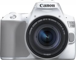 Зеркальный Фотоаппарат Canon EOS 250D белый 24.1Mpix EF-S 18-55mm f/1:4-5.6 IS STM 3 4K Full HD SDXC Li-ion