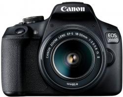 Зеркальный Фотоаппарат Canon EOS 2000D черный 24.1Mpix 18-55mm f/3.5-5.6 III 3 1080p Full HD SDXC Li-ion (с объективом)