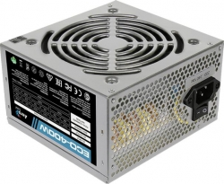 Блок питания Aerocool ATX 400W ECO-400 (24+4pin) PPFC 120mm fan 2xSATA RTL