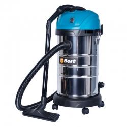 Строительный пылесос Bort BSS-1630-SmartAir 1600Вт (уборка: сухая/влажная) синий