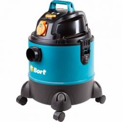Строительный пылесос Bort BSS-1220-Pro 1250Вт (уборка: сухая/влажная) синий