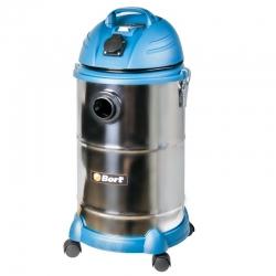 Строительный пылесос Bort BSS-1530N-Pro 1400Вт (уборка: сухая/влажная) серебристый
