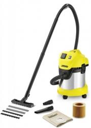 Строительный пылесос Karcher WD3 P Premium EU-I 1000Вт (уборка: сухая/влажная) желтый