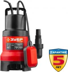 Садовый насос дренажный Зубр НПГ-М1-750 750Вт 13500л/час