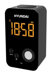 Радиобудильник Hyundai H-RCL300 черный LCD подсв:белая часы:цифровые FM