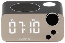 Радиобудильник Hyundai H-RCL320 черный LCD подсв:фиолетовая часы:цифровые FM