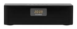 Радиобудильник Hyundai H-RCL340 черный LCD подсв:белая часы:цифровые FM