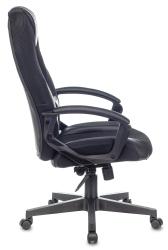 Кресло игровое Бюрократ VIKING-9/BLACK черный искусст.кожа/ткань