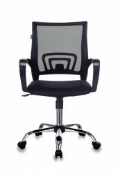 Кресло Бюрократ CH-695N/SL/BLACK спинка сетка черный TW-01 сиденье черный TW-11 крестовина хром
