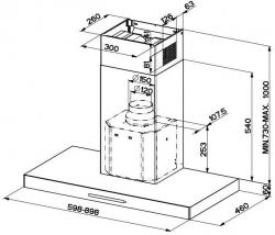 Вытяжка каминная Faber Stilo/SP EV8 X A90 нержавеющая сталь управление: кнопочное (1 мотор)