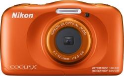 Фотоаппарат Nikon CoolPix W150 оранжевый 13.2Mpix Zoom3x 2.7 1080p 21Mb SDXC CMOS 1x3.1 5minF HDMI/KPr/DPr/WPr/FPr/WiFi/EN-EL19